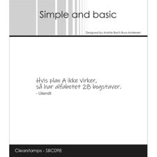 Simple and Basic Clear Stamp - Hvis Plan A ikke virker...