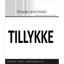 Simple and Basic Die - Text Plate / Tillykke