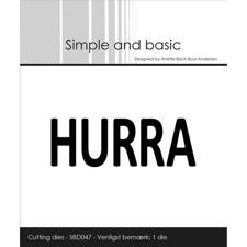 Simple and Basic Die - Text Plate / Hurra