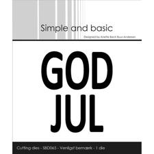 Simple and Basic Die - God Jul (plate / lodret)