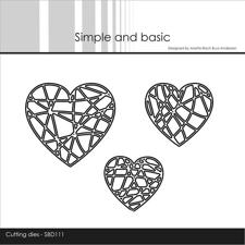 Simple and Basic Die - String Hearts