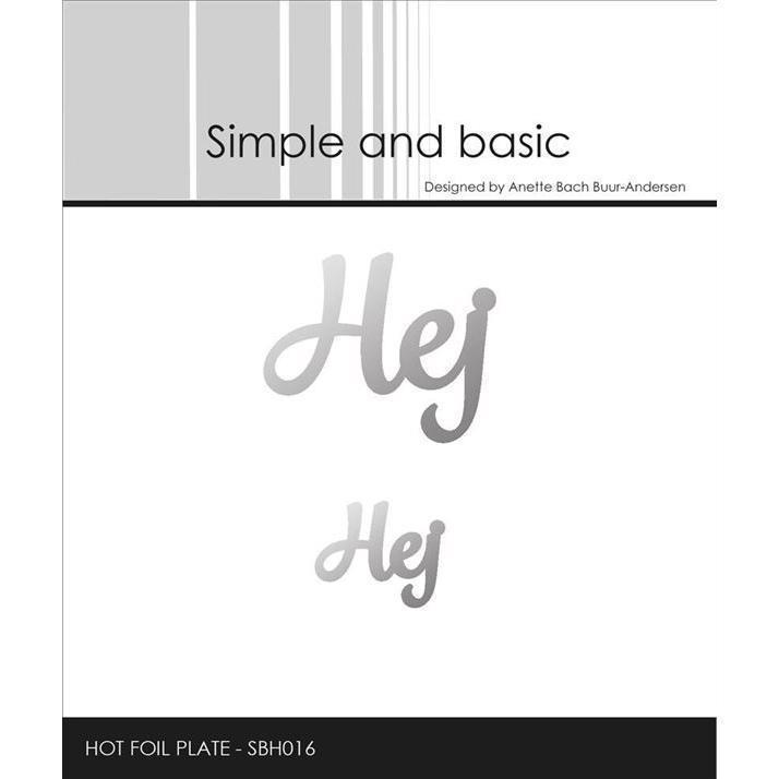 Simple and Basic HOT FOIL Plate - Tekst / Hej