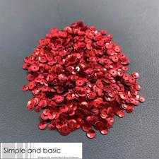 Simple and Basic Sequins (Pailetter) - Red