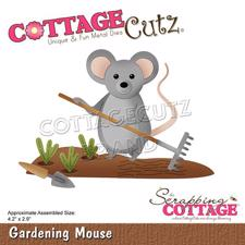 Cottage Cutz  Die - Gardening Mouse