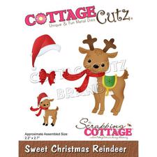 Cottage Cutz  Die - Sweet Christmas Reindeer
