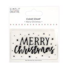 Simply Creative Clear Stamp - Merry Christmas (large)