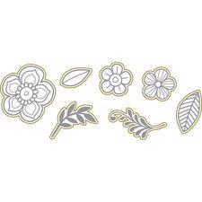 Richard Garay Stamp & Die Set - Gold Blooms