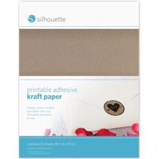 Silhouette Printable Sticker Paper - Kraft
