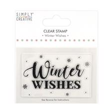 Simply Creative Clear Stamp - Winter Wishes (large)