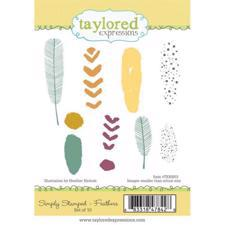 Taylored Expressions Stamps - Feathers
