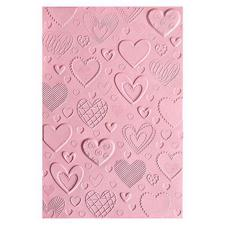 Sizzix 3D Embossing Folder - Hearts