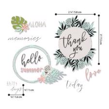Sizzix Framelits & Stamps - Detailed Tropics