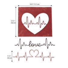 Sizzix Thinlits - Tim Holtz / Heartbeat
