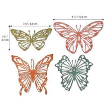 Sizzix Thinlits - Tim Holtz / Scribbly Butterflies