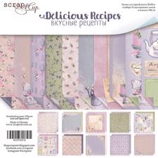 "ScrapMir Paper Pack 8x8"" - Delicious Recipes"