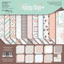 "ScrapMir Paper Pack 12x12"" - Happy Days"