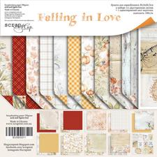 "ScrapMir Paper Pack 12x12"" - Falling in Love"
