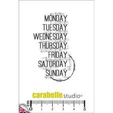 Carabelle Studio Cling Stamp Mini - Monday, Tuesday...