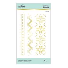 Spellbinders Hot Foil Plate - Christmas Sweater Borders