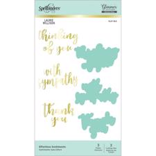 Spellbinders Hot Foil Plate - Effortless Sentiments