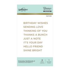 Spellbinders Hot Foil Plate - Everyday Sentiments II