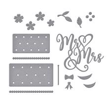 Spellbinders Die -  Mr. & Mrs. Wedding Cake