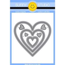 Sunny Studio Stamps - DIES / Sticthed Heart