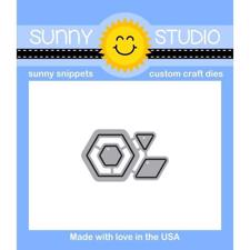 Sunny Studio Stamps - DIES / Quilted Hexagons