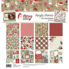 "Simple Stories Paper Pack 12x12"" Collection - Merry & Bright"