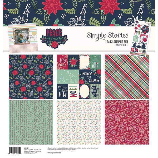 "Simple Stories Paper Pack 12x12"" Collection - Peace on Earth"