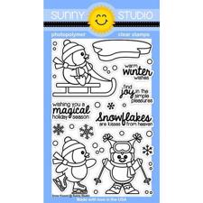 Sunny Studio Stamps - Clear Stamp / Snow Kissed