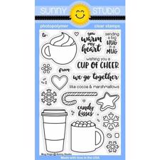 Sunny Studio Stamps - Clear Stamp / Mug Hugs