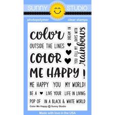 Sunny Studio Stamps - Clear Stamp / Color me Happy