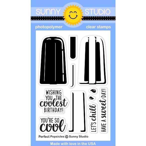 Sunny Studio Stamps - Clear Stamp / Perfect Popsicles