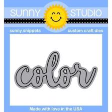 Sunny Studio Stamps - DIES / Color Word