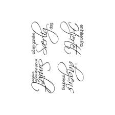 Gitte's Eget Design Clearstamp Set - Scripty Tekster