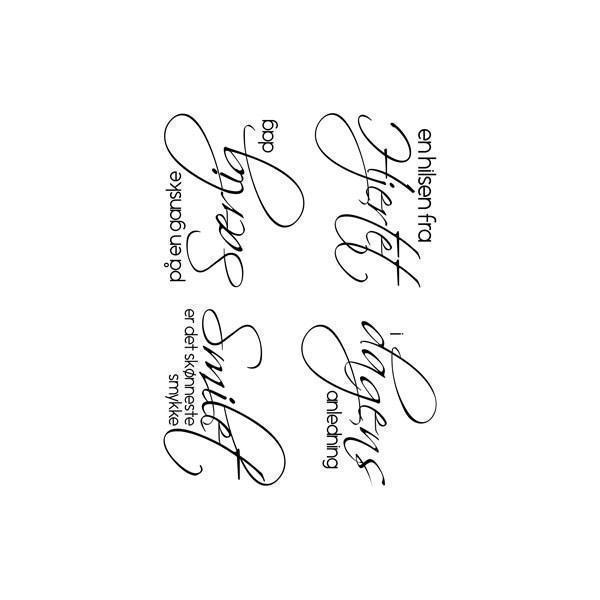Gitte\'s Eget Design Clearstamp Set - Scripty Tekster