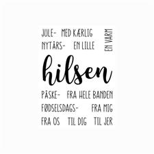 Gitte's Eget Design Clearstamp Set - Mix & Match / Hilsen