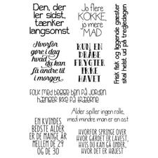 Gitte's Eget Design Clearstamp Set - Sort Humor