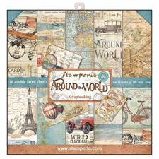 "Stamperia Paper Pack 12x12"" - Around the World"