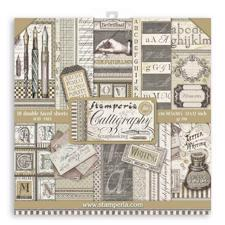 "Stamperia Paper Pack 12x12"" - Calligraphy"