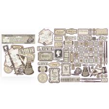 Stamperia Chipboard Die Cuts - Calligraphy