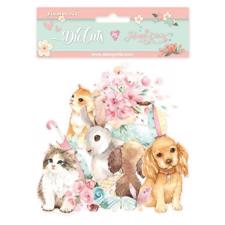 Stamperia Chipboard Die Cuts - Circle of Love / Cats & Dogs