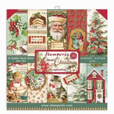 "Stamperia Paper Pack 12x12"" - Classic Christmas"
