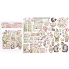 Stamperia Chipboard Die Cuts - Orchids & Cats