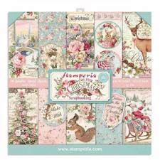 "Stamperia Paper Pack 12x12"" - Pink Christmas (NY version)"