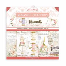 "Stamperia Paper Pack 8x8"" - Threads (lille)"