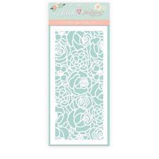 Stamperia Thick Stencil - Circle of Love / Texture Roses