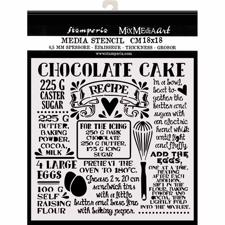 Stamperia Thick Stencil 18x18 cm - Chocolate Cake