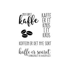 Gitte's Eget Design Clearstamp Set - Kaffe